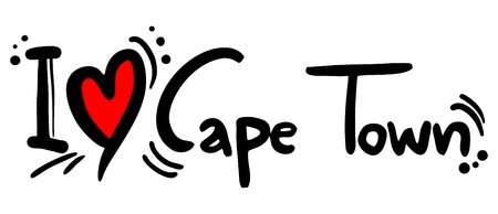 cape town: Cape Town love Illustration