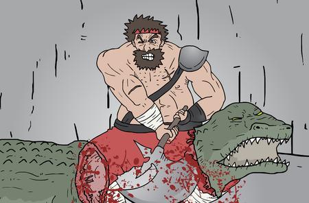 assassinate: Attack gore scene Illustration