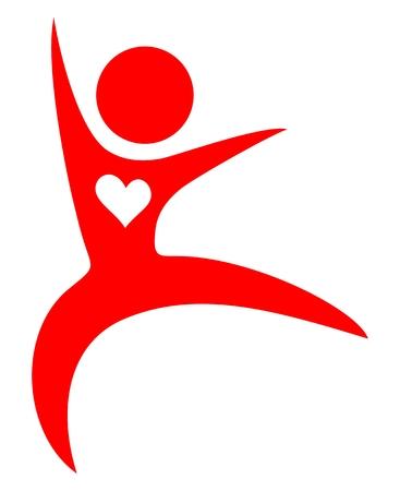 Health heart symbol Illustration