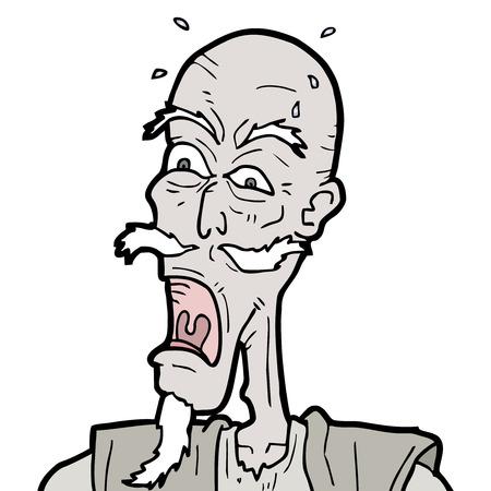 Crazy senior expression Illustration