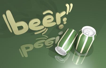 Beer render design photo