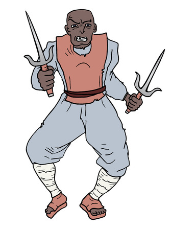 agressive: Agressive man draw