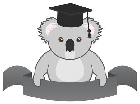 University ribbon emblem Vector