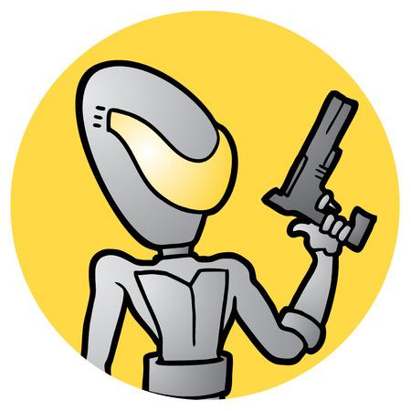 Future soldier icon Vector