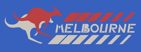 Melbourne card Vector