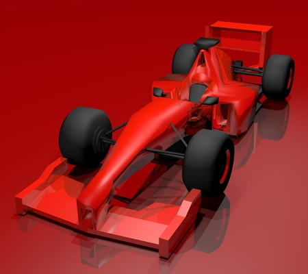formule: Red render racing car design Stock Photo
