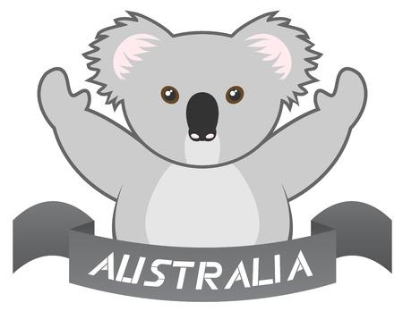koala bear: Australia ribbon Illustration