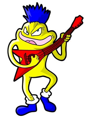 subversive: Guitar art character