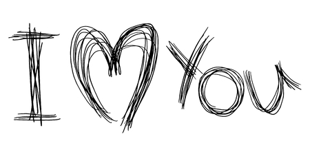 I love you art message