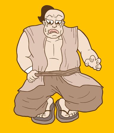 Fat character draw Illustration