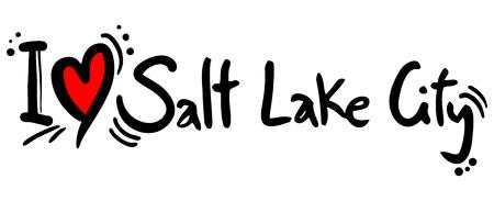 salt lake city: Salt Lake City love Illustration