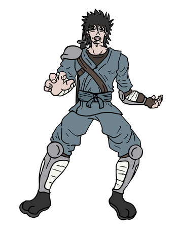 soldier fish: Samurai draw