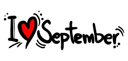 I love September Illustration