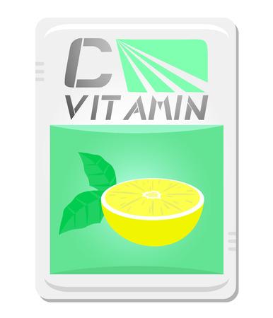 limon: Vitamin card Illustration