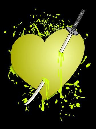 affliction: Art paint heart Illustration
