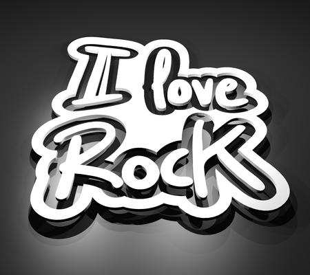 I love Rock message