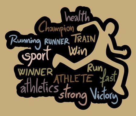 athleticism: Run sport symbol