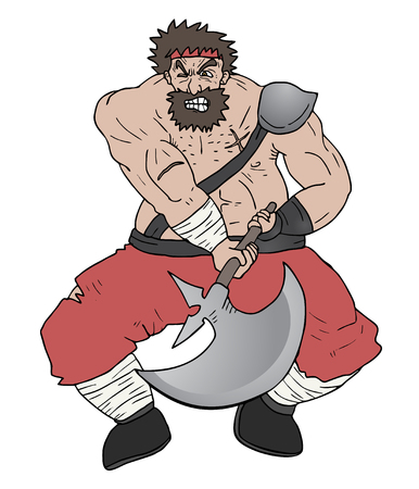 norseman: Barbarian attack Illustration