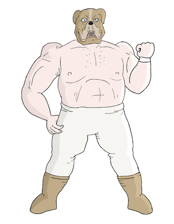 Muscle mask man Vector
