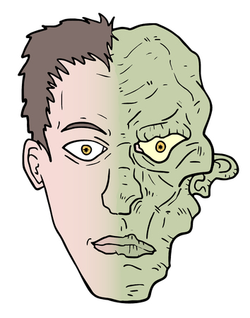 Monster draw face Vector