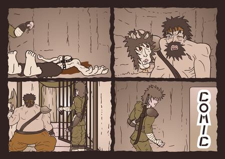 assassinate: Vintage comic page