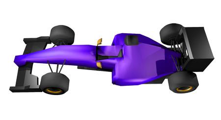 racecar: Purple racecar
