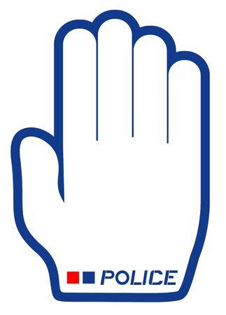 Police hand symbol Vector
