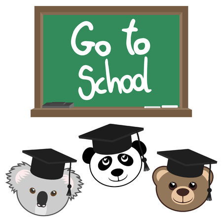 informs: Go to school message Illustration