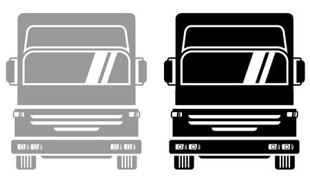 illegally: Truck icon Illustration