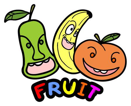 Color fruits Vector