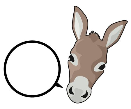 ass donkey: Happy horse Illustration
