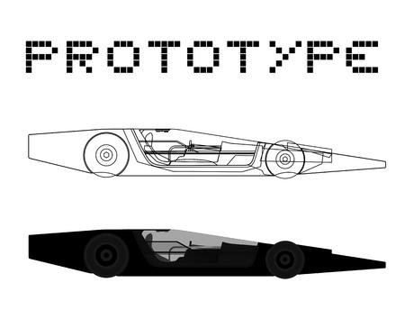 prototype: Prototype car Illustration