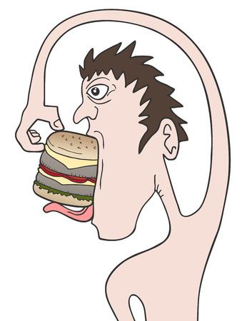 starve: Burger funny draw Illustration