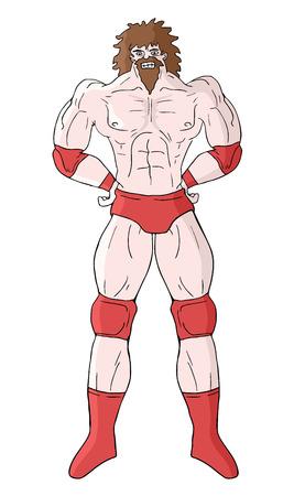 Wrestler draw Illustration
