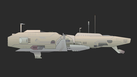 space invaders: Future aircraft Illustration