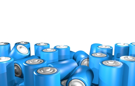 9v battery: Render batteries Stock Photo