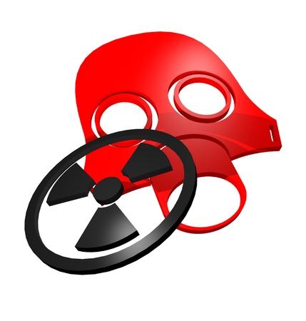 Radiation symbol photo