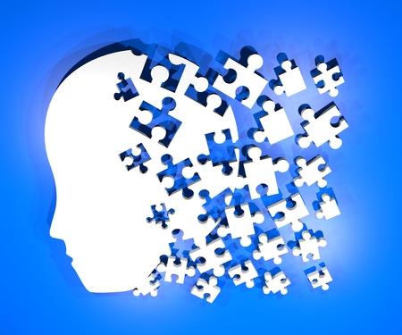 Brain puzzle symbol Banco de Imagens - 30406476