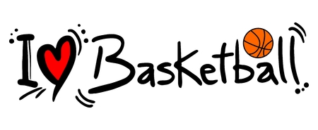 Basketball love Vector