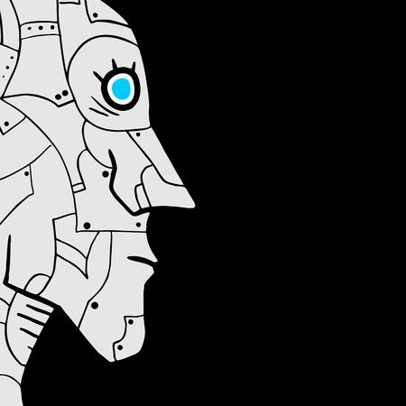 Robot face vector design Vector