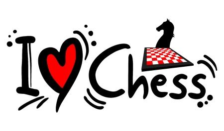 horse like: I love Chess Illustration
