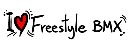 skatepark: I love Freestyle BMX word