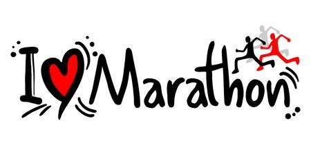I love Marathon word