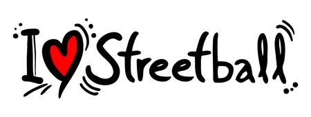 I love Streetball word Çizim
