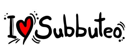 I love Subbuteo word Çizim