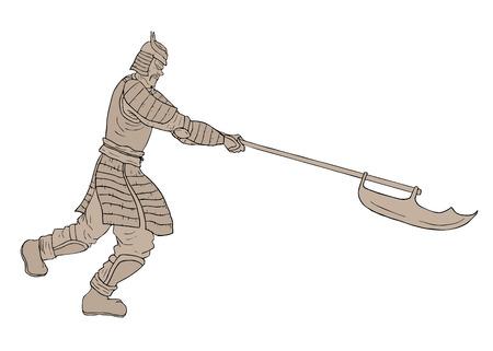 Samurai stone Vector
