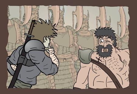 barren: Comic scene