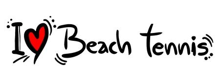Beach tennis love Vector