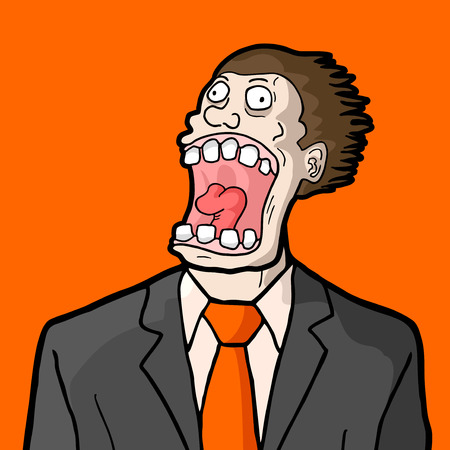 hysterical: Amazing face Illustration