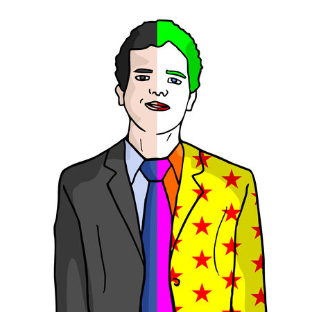 adult birthday party: Funny elegant clown